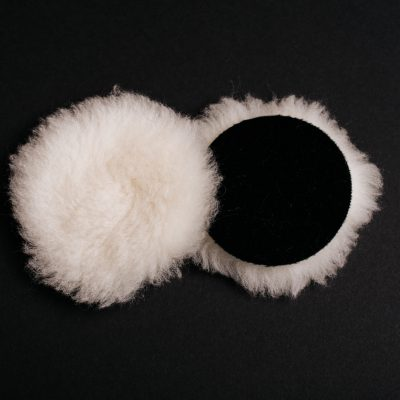 "3"" White Wool Buffing Pad"
