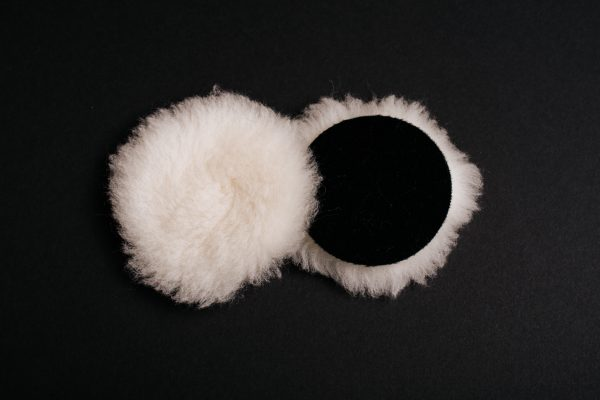 "3"" White Wool Buffing Pad"